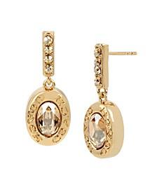 Signature Logo Swarovski® Crystals Bar Drop Earrings