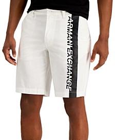 Men's Colorblock Logo Stretch Twill Bermuda Shorts, Created for Macy's