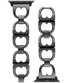 Black-Tone Stainless Steel Gemini Link Bracelet For Apple Watch® 38mm/40mm