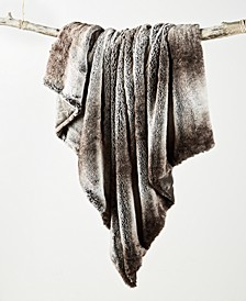 Ombre Faux Fur Throw, Created For Macy's