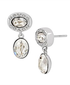 Signature Logo Swarovski® Crystals Double Drop Earrings