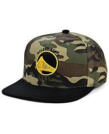 Golden State Warriors Natural Camo Snapback Cap