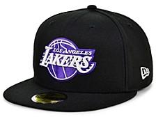 Men's Los Angeles Lakers Purple Hooks 59FIFTY Cap