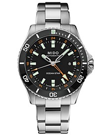 Men's Swiss Automatic Ocean Star GMT Stainless Steel Bracelet Watch 44mm