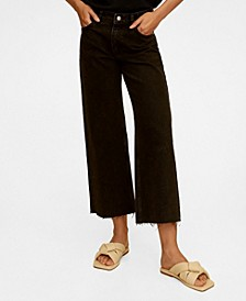Mid Waist Culotte Jeans