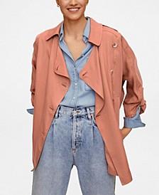 Women's Linen Lyocell Trench Coat