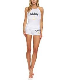 Women's Sleeveless Tank Top and Shorts Set