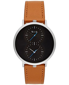 Men's Griffith Brown Leather Strap Watch 43mm