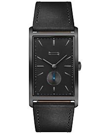 Men's Pesaro Black Leather Strap Watch 27x45.5mm