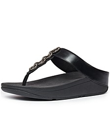 Women's Fino Sparkle Thong Wedge Sandals