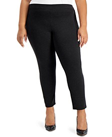Plus Size Slim-Fit Pull-On Ankle Pants