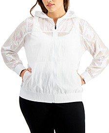 Plus Size Iridescent Full Zip Jacket, Created for Macy's