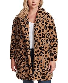 Trendy Plus Size Carmen Leopard-Print Cardigan