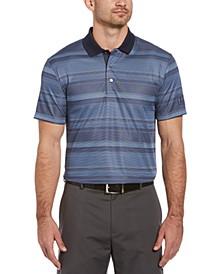 Men's Faded Stripe Jacquard Polo Shirt