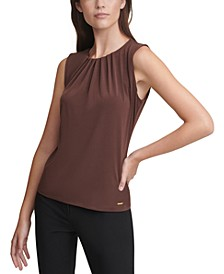 Pleat-Neck Top