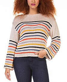 Petite Textured Striped Sweater