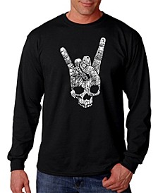 Men's Heavy Metal Genres Word Art Long Sleeve T-shirt
