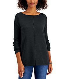 Petite Seam-Front Sweater, Created for Macy's