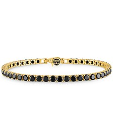 Black Spinel Tennis  Bracelet (16-1/2 ct. t.w.) in 14k Gold-Plated Sterling Silver, Created for Macy's