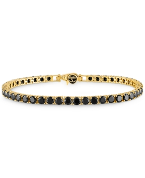 Black Spinel Tennis Bracelet (13 ct. t.w.) in 14k Gold-Plated Sterling Silver