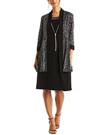 R & M Richards Plus Size Glitter Jacket & Dress
