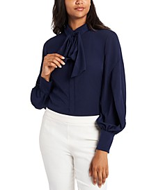 Camille Tie-Neck Blouse, Created for Macy's