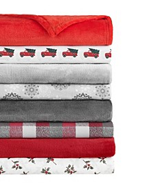 Holiday Microfiber Sheet Sets and Throw