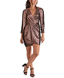 Draped Metallic Bodycon Dress