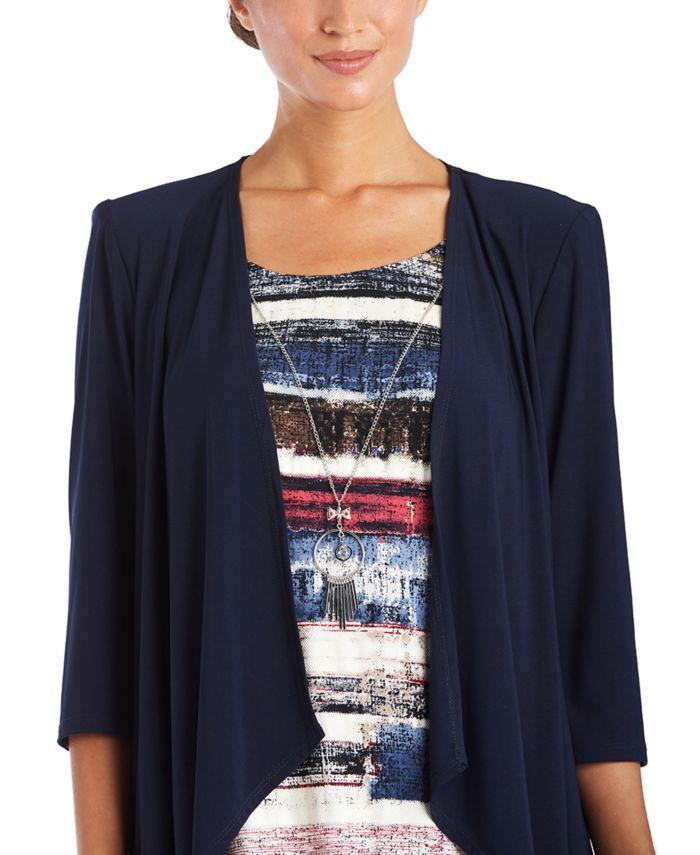 R & M Richards 2-Pc. Flyaway Jacket & Printed Dress Set & Reviews - Dresses - Women - Macy's