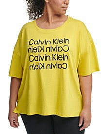 Plus Size Stacked Logo Top