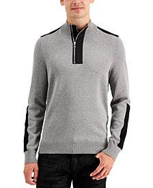 INC Men's Lock Half-Zip Sweater, Created for Macy's