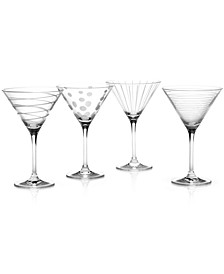 """Clear Cheers"" Martini Glasses, Set Of 4"