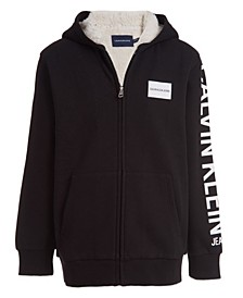 Big Boys Institution Sherpa Lined Full Zip Sweatshirt