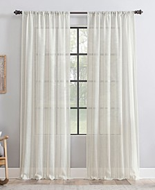 Retro Stripe Dust Resistant Sheer Curtain Panel Collection