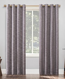 "Kamali Textured Stripe Thermal Extreme 100% Blackout Grommet Curtain Panel, 50"" x 96"""