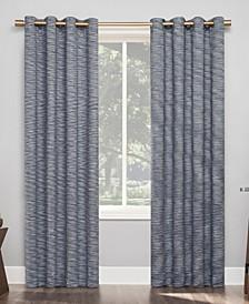 "Kamali Textured Stripe Thermal Extreme 100% Blackout Grommet Curtain Panel, 50"" x 84"""
