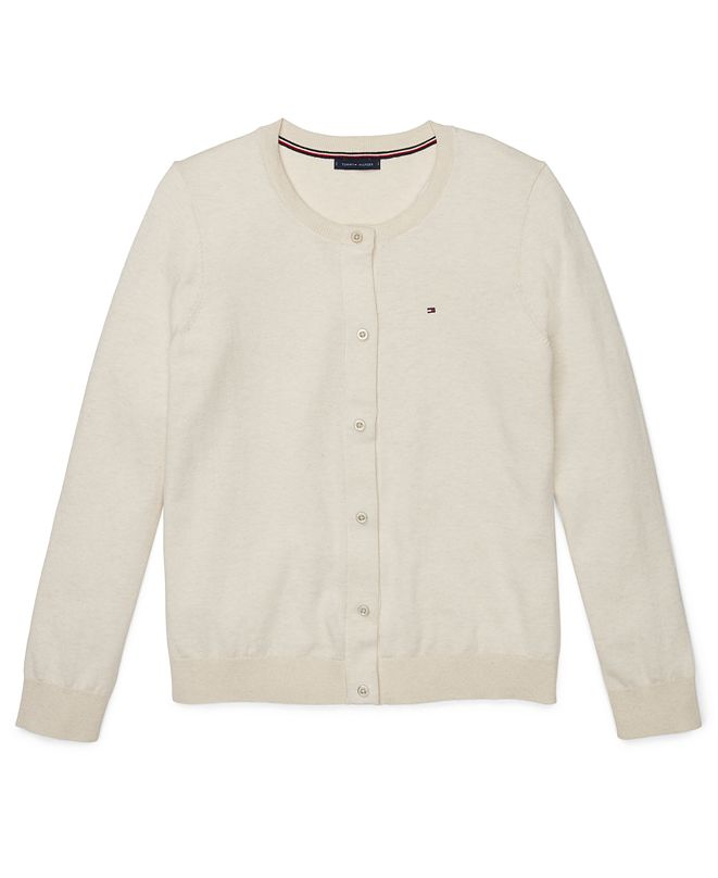 Tommy Hilfiger Women's Cotton Cardigan Sweater With Magnetic Buttons