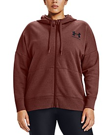 Plus Size Rival Zippered Hoodie