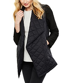 Jack By Maternity Open-Front Quilted Jacket