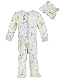 Baby Boys Safari-Print Cotton Coverall Set, Created for Macy's