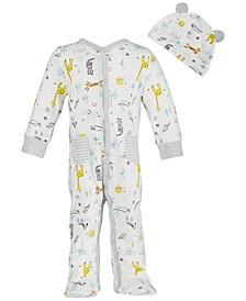 Baby Boys Safari-Print Cotton Coverall Set, Created for Macy's