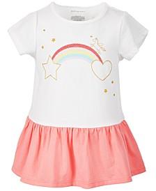 Toddler Girls Rainbow Peplum Cotton Top, Created for Macy's