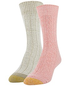 Women's 2-Pk. Soft Cable Boot Socks
