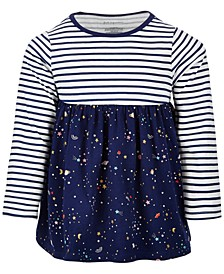 Baby Girls Stripe Space Cotton Tunic, Created for Macy's