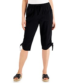 Ruched Denim Skimmer Shorts, Created for Macy's
