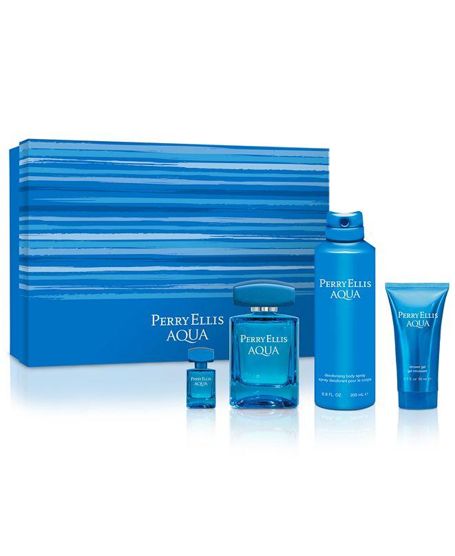 Perry Ellis Men's 4-Pc. Aqua Gift Set