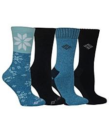4-Pk. Moisture-Control Crew Socks