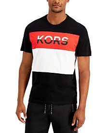 Men's Pieced Colorblocked Logo Graphic T-Shirt, Created for Macy's