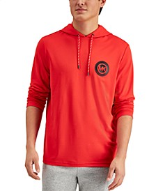 Men's Tech Badge Logo Graphic Hooded T-Shirt, Created for Macy's