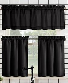 "Martine Rod Pocket Kitchen Curtain Valance And Tiers Set, 54"" x 36"""